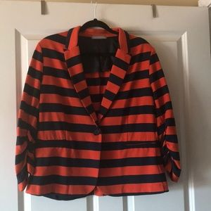 Olivia Moon orange/blue striped Blazer